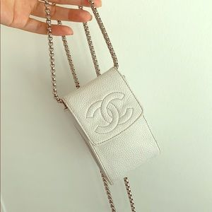 💯 AUTH Chanel pouch wallet on chain mini bag coin